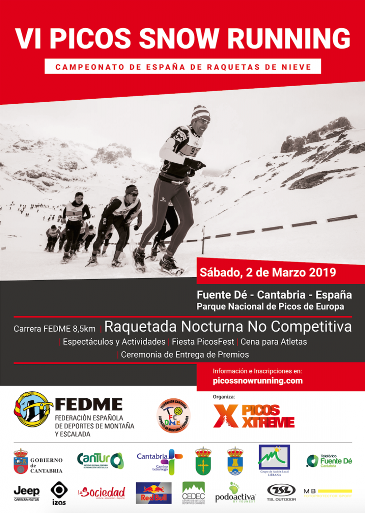 CARTEL VI PICOS SNOW RUNNING