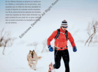 Magazine Grandes Espacios (Great Spaces) – Running with snow shoes, EL RUNNING BLANCO